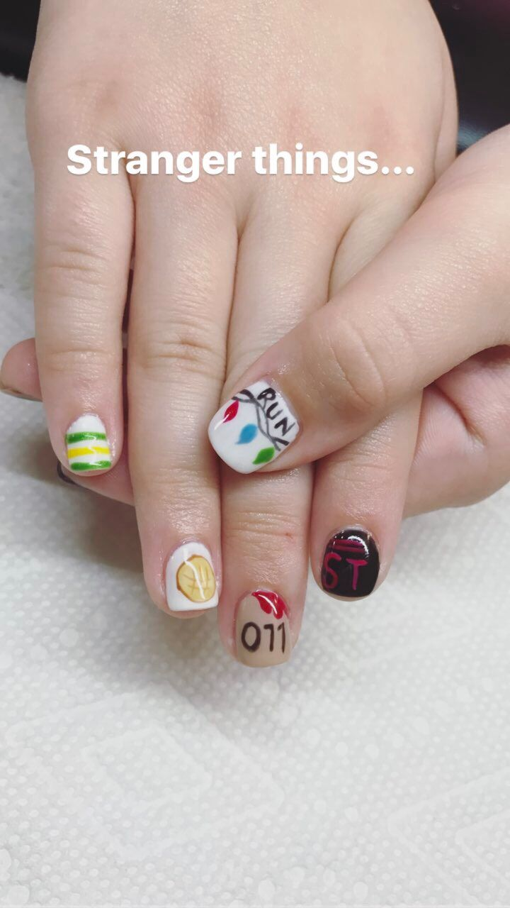 Stranger things nails Eli. Lin is awesome!