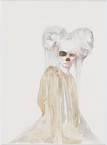 Helen Gory Galerie | Lorene Taurerewa - The Company of Fools - Watercolour