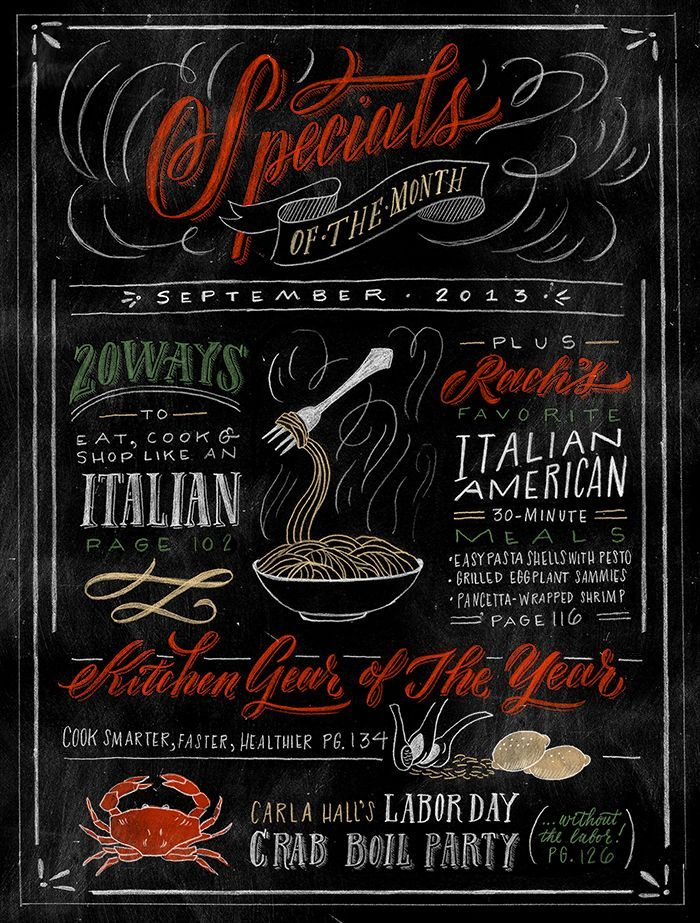 Rachael Ray Magazine — molly jacques lettering + illustration