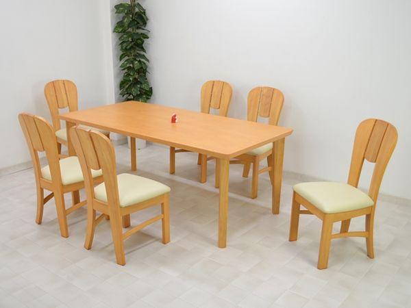 Dining Table 180ダイニングテーブル7点セットmashL4Dナチュラル色6人用 北欧 インテリア 雑貨 家具 Modern ¥75300yen 〆12月02日