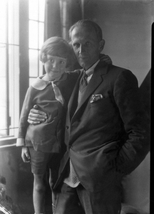 a.a. milne and Christopher Robin.  A lucky and well loved little boy.