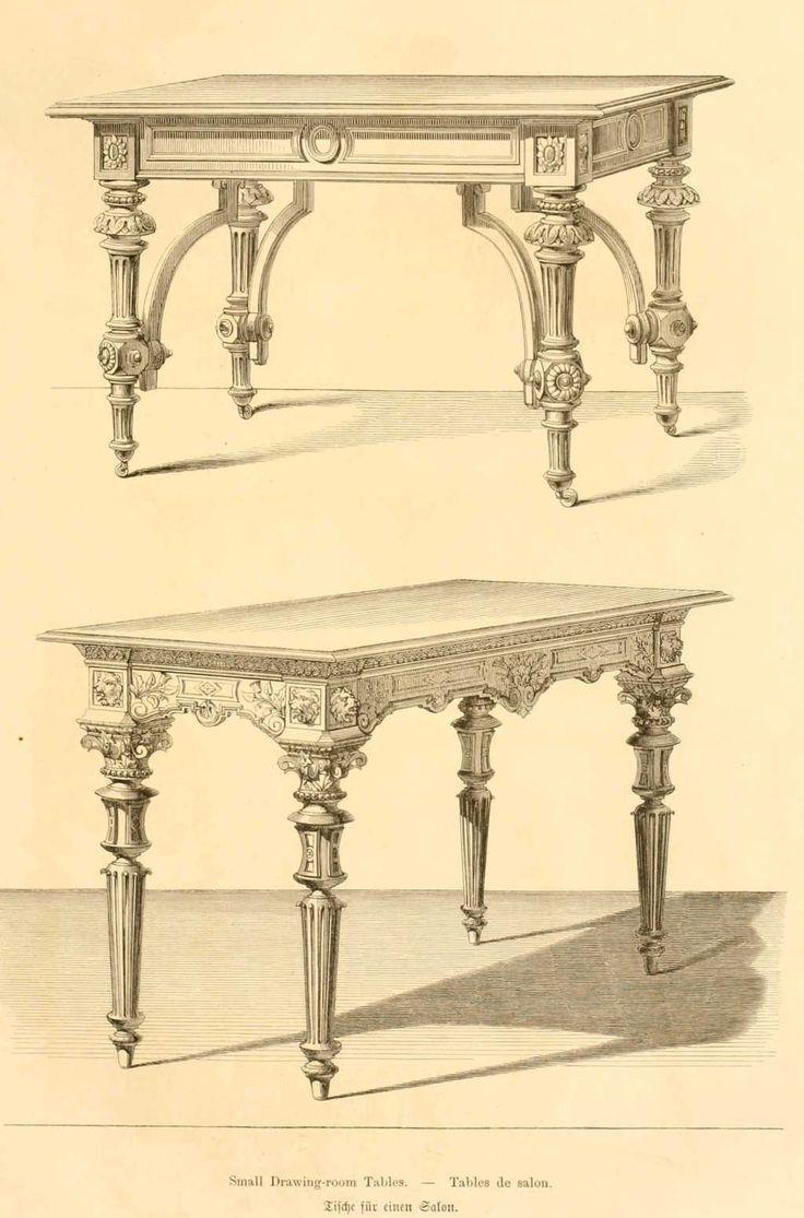 dessins de mobilier tir s de catalogues de meubles de 1871 french treasures i mobilier. Black Bedroom Furniture Sets. Home Design Ideas