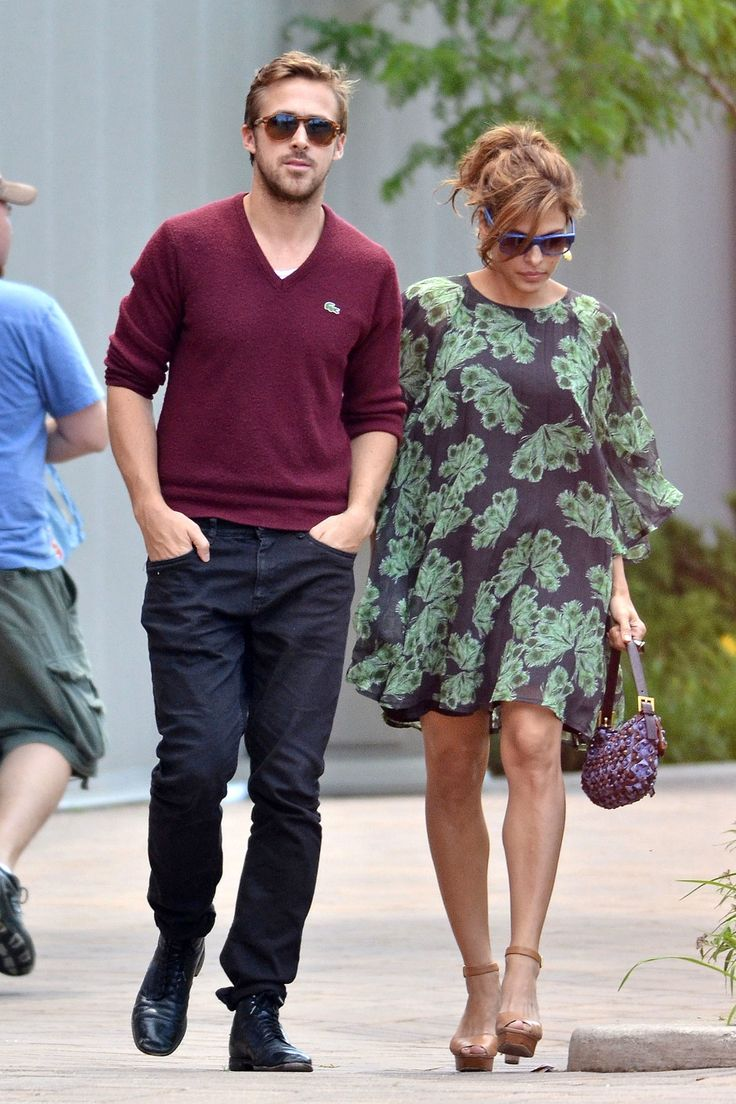 Eva Mendes and Ryan Gosling are so adorable.