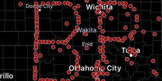 """The effort coordinated by Spotter Network spelled out """"BP"""" to honor the leading man in the disaster movie """"Twister,"""" which inspired a generation of storm chasers."""