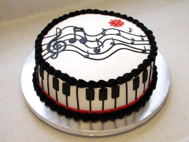 Music Themed Birthday Cake Credit Layla Piano