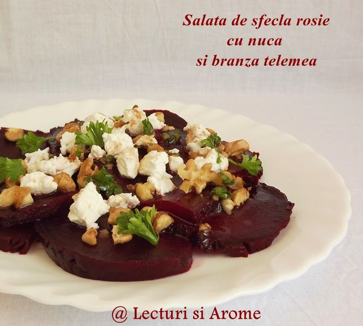 Salata de sfecla rosie cu nuci