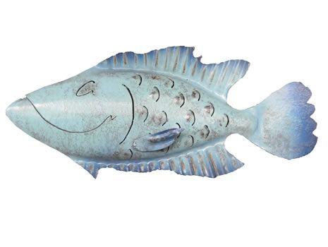 Hurricane Floyd Iron Fish Art Sculpture  |  Coastal Wall Decor  |  Handmade by Chase Allen