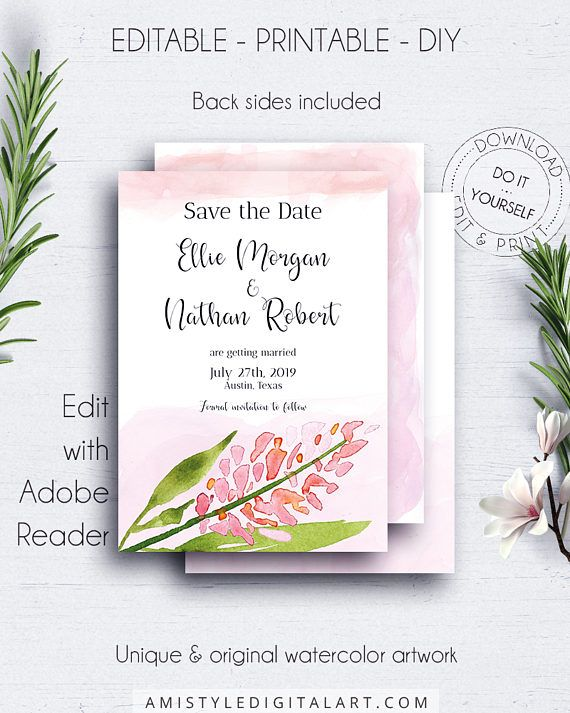 floral save the date template save date template wedding