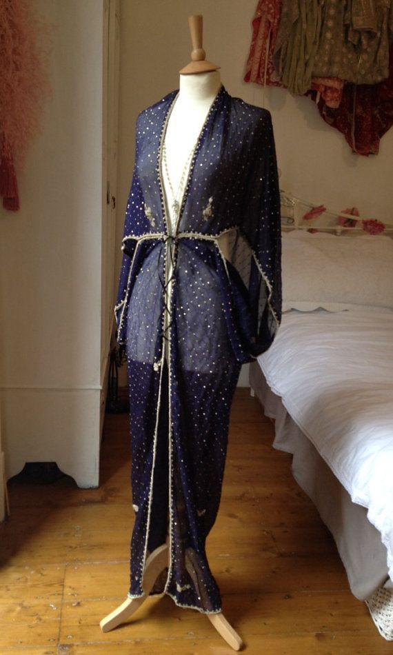 Embroidered 1920's Style Midnight Blue by Talulahblueburlesque