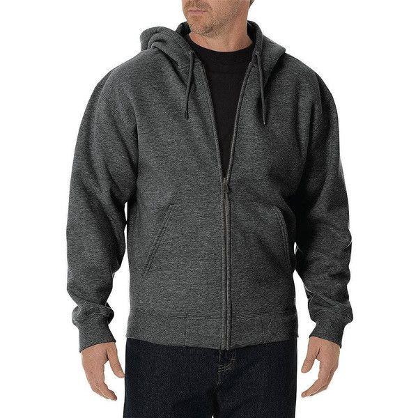 Big & Tall Dickies Full-Zip Hoodie ($68) ❤ liked on Polyvore featuring men's fashion, men's clothing, men's hoodies, dark grey, mens big and tall hoodies, mens tall hoodies, mens full zip hoodie, mens full zip hoodies and mens hoodies