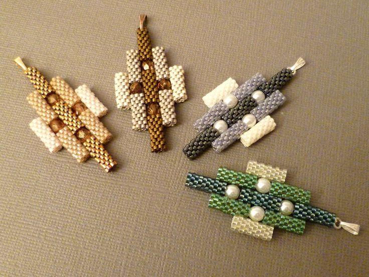pendant made from separate cylinders delica beads