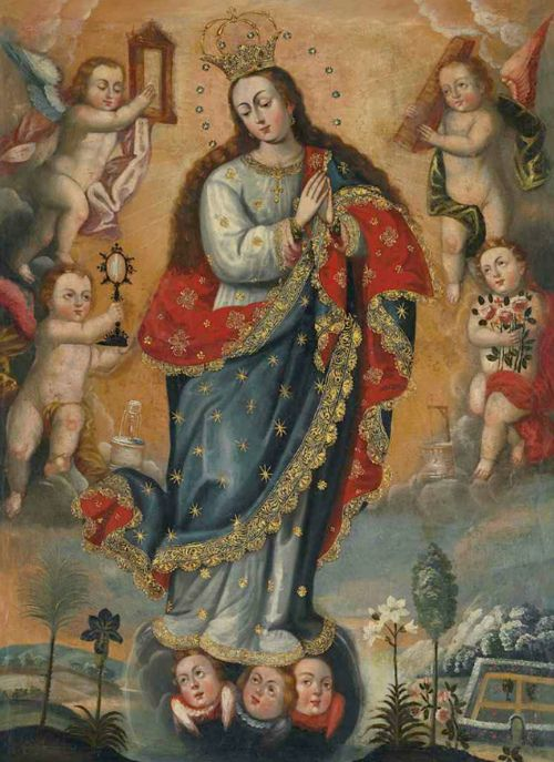 Immaculate Conception from the Cuzco School of Peru, circa 1780.