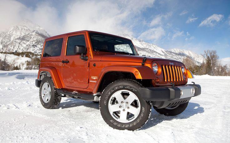 wrangler in snow
