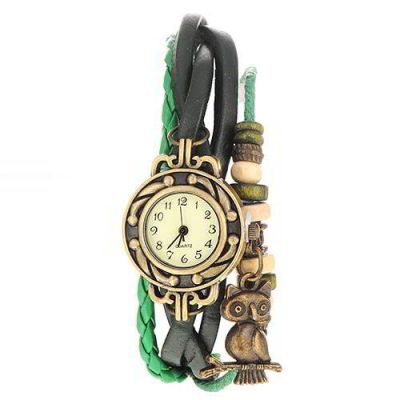 Owl Shape Decorated Multilayer  Green. Fashionable with passion REPIN if you like it.😍 Only 65 IDR