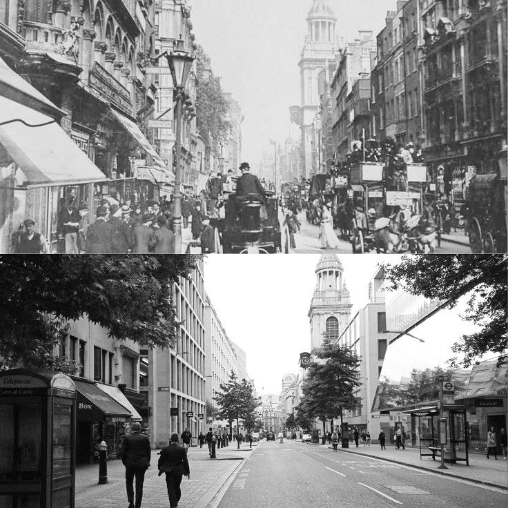 Cheapside 100 years apart