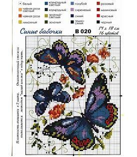 #Butterflies #cross-stitch #butterfly