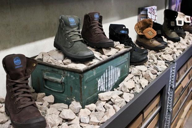 Bring natural materials into retail display.