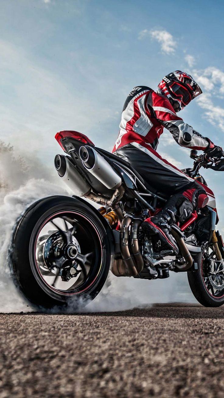 Ducati Hypermotard 950 SP Bike Burnout Ducati