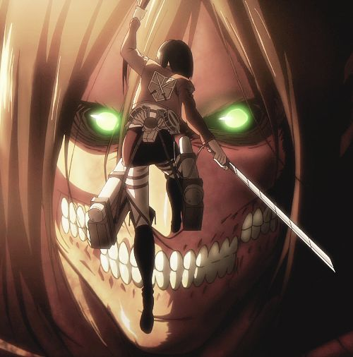 Attack on Titan ~~ Trust that the one who saved you will never betray you... :: Eren and Mikasa