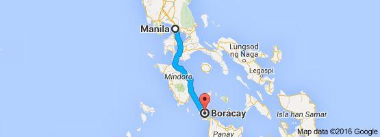 Mapa de Manila, Gran Manila, Filipinas a Borácay