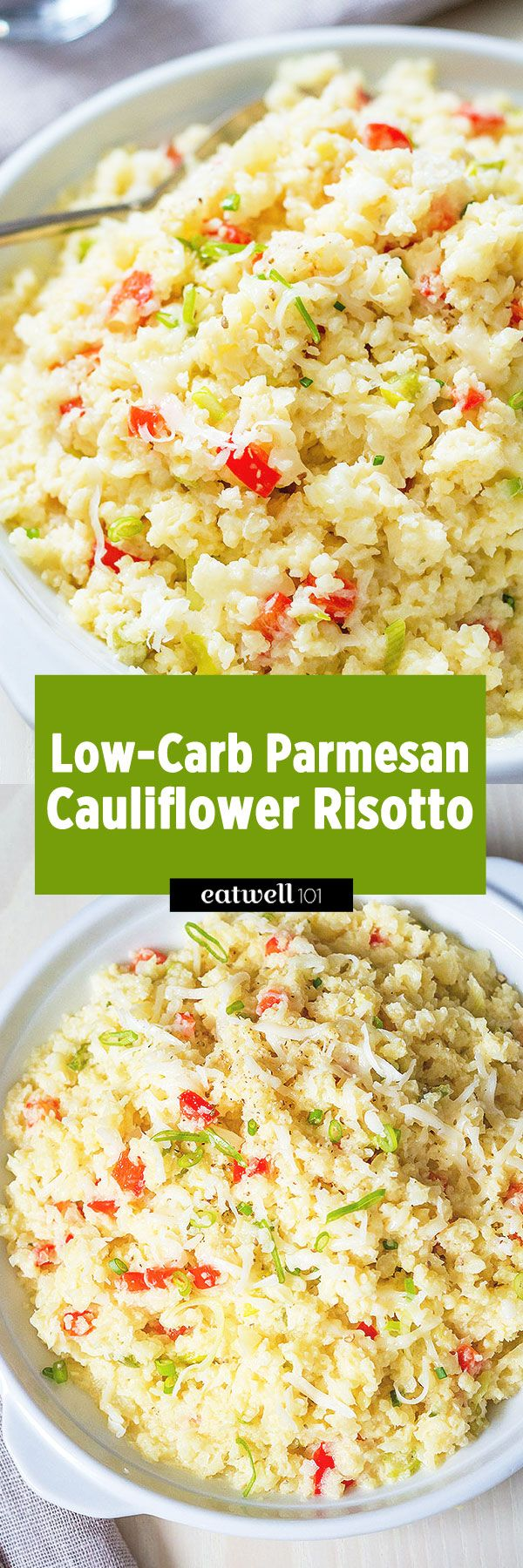 Looking for the perfect low-carb dish? This versatile cauliflower risotto perfectly mimics a classic risotto but each spoonful is packed with fresh vegetables.