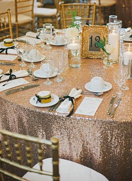 Sequin Tablecloth Rentals Available by SimplyTimelessEvents