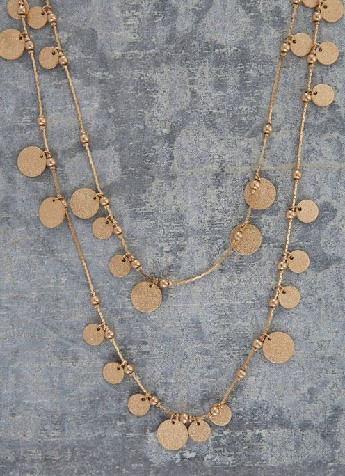 Double Loop Coin Necklace