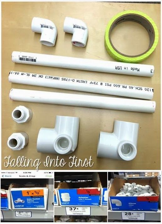 tabletop anchor chart stand.  pvc pipe.  sight word lists.