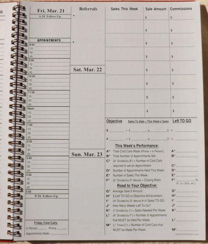 2014   2015 sales planner  u0026 weekly sale goal tracker