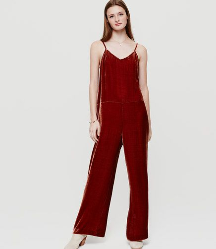 Image of Lou & Grey Velvet Jumpsuit