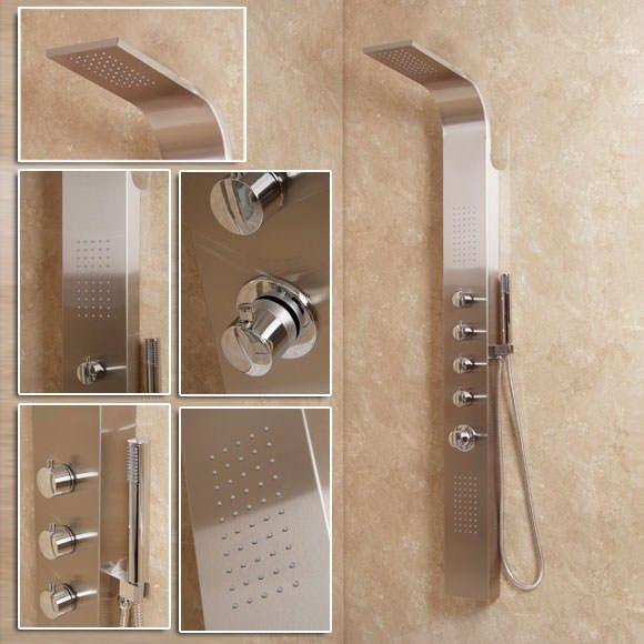 AquaUno Thermostatic Shower Panel