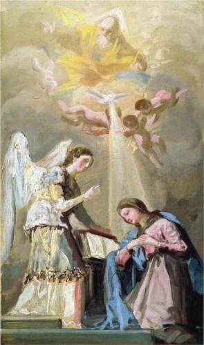 The Annunciation - Francisco Goya, romanticism