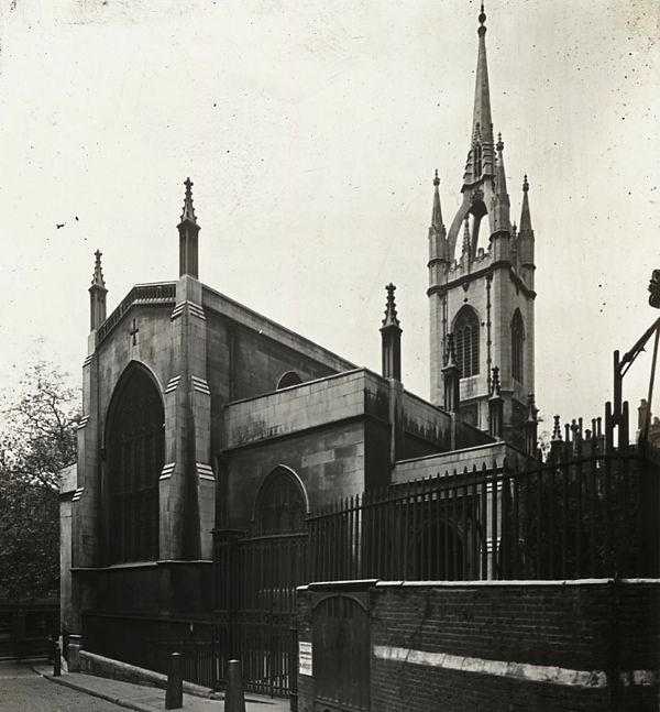St Dunstan in the East, 1910