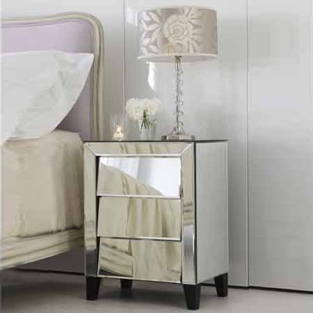 50u0027s style mirrored bedside cabinet bedside tables furniture
