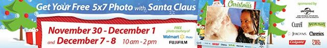 Free 5×7″ Photo w/ Santa at Walmart on December 1st, 7th, and 8th! | SassyDealz.com