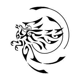Round tribal phoenix tattoo