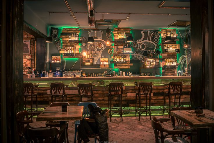 Quirky design Steampunk Joben Bistro Pub Inspired by Jules Verne's Fictional Stories When I get to Romania, this will be one of my stops!