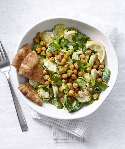 Salad With Crispy Chickpeas | The cabbage-shaped sprouts are crunchy ...