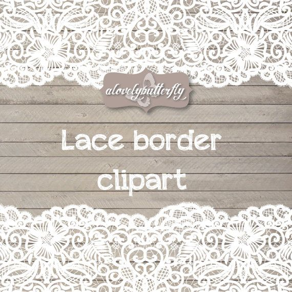 Wedding Clipart Lace Border Rustic Clipart Shabby Chic Wedding Lace Clipart Lace Border