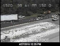 CRASH: Roadblock reported on I-95 at mile 152