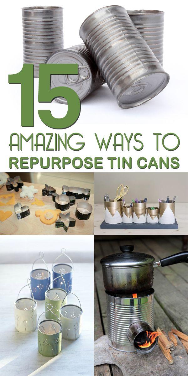 15 Amazing Ways to Repurpose Tin Cans #crafts