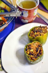 Vanishing Veggie: Arbonne Detox Day 4, Vegan Stuffed Peppers