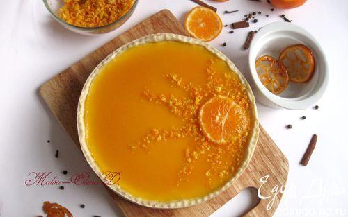 Творожный тарт с мандариновым соусом | Кулинарные рецепты от «Едим дома!»
