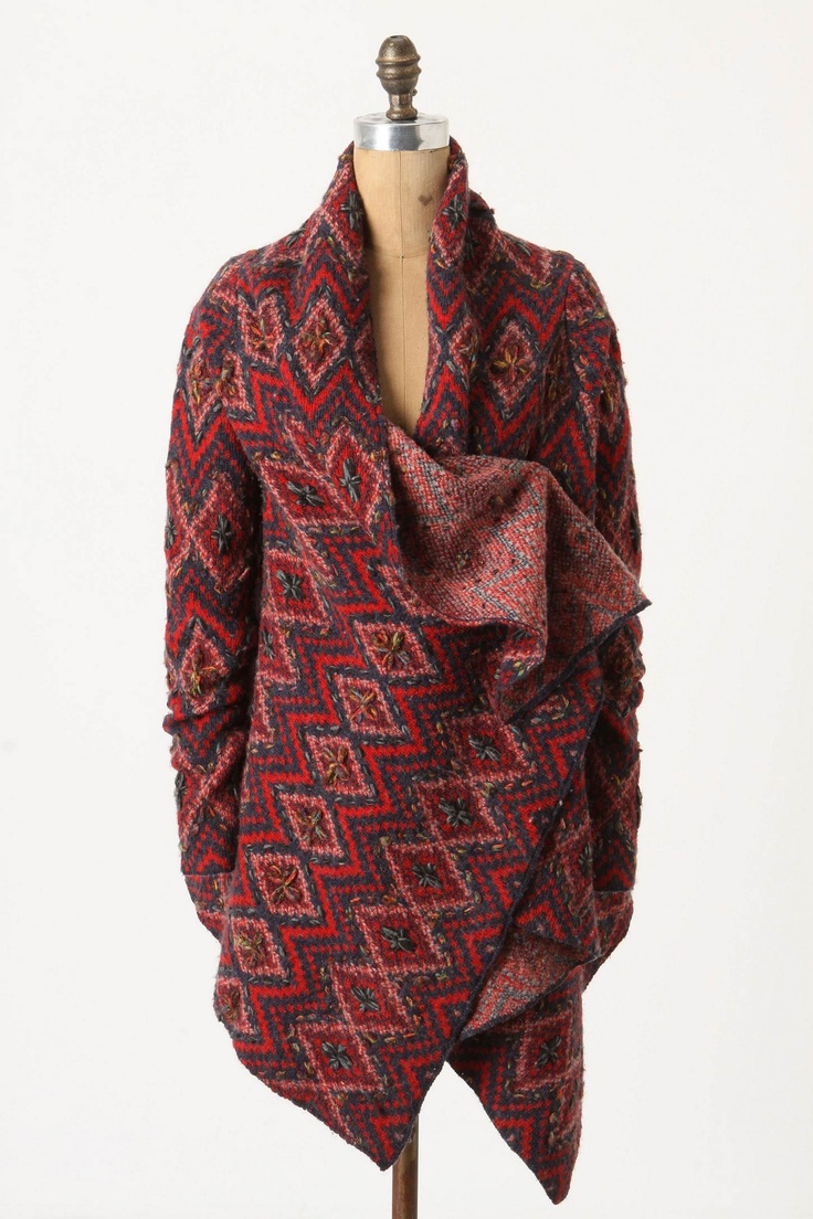 my one great purchase for the fall and winter. Different from a pancho. It has sleeves.