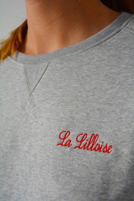 Collection Capsule N°5 Les Comptoirs d'Orta /  www.lescomptoirsdorta.com / Sweat gris La Lilloise #lescomptoirsdorta #sweat #grey #gris #Lille #Lilloise #France #French #girl #woman #fashion #tendance