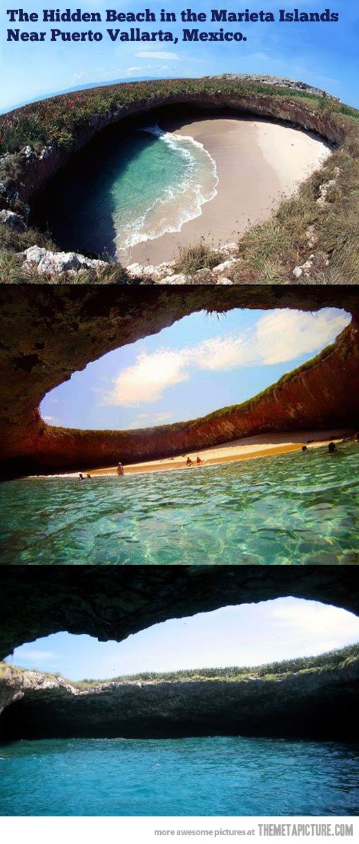 """EDITED: DONE! Hopefully I will be crossing the """"Hidden Beach""""at Las Marietas off my list in a couple days when I vacation in Puerto Vallarta, Mexico."""