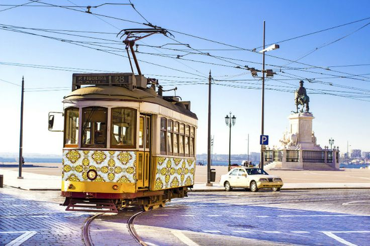 Photo: Ride on the Funicular Tram, Lisbon, Portugal