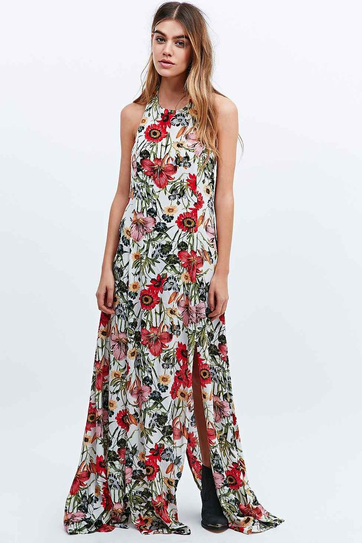 Somedays Lovin' Bella Floral Split Maxi Dress in Ivory