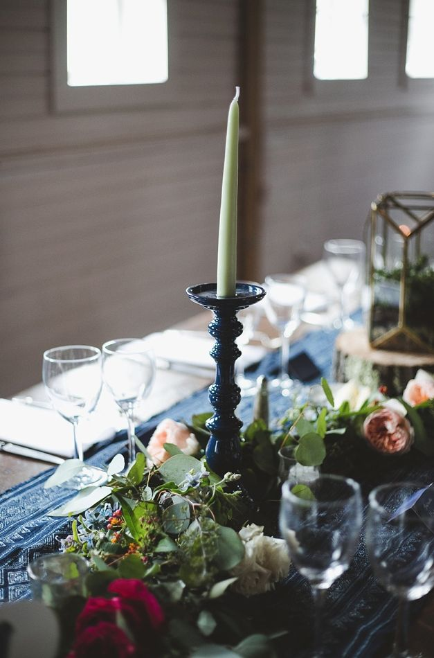 17 Fall + Winter Wedding Color Palettes to Copy | Blue, Red, and Blush