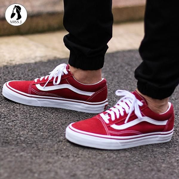 VANS Old Skool Classic - Brick Red/True White | Vans shoes ...